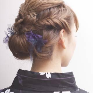 夏 ナチュラル ヘアアレンジ 愛され ヘアスタイルや髪型の写真・画像