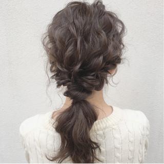 ガーリー ナチュラル セミロング 大人かわいい ヘアスタイルや髪型の写真・画像 ヘアスタイルや髪型の写真・画像