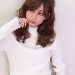 大人女子 ガーリー ハイライト ロング ヘアスタイルや髪型の写真・画像