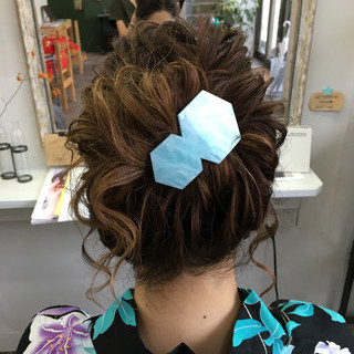 ロング まとめ髪 アップスタイル ヘアアレンジ ヘアスタイルや髪型の写真・画像
