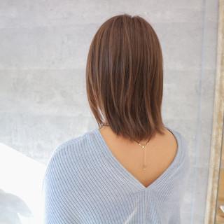ナチュラル 艶髪 爽やか リラックス ヘアスタイルや髪型の写真・画像