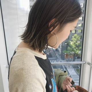 ハイライト 透明感 外国人風 ベージュ ヘアスタイルや髪型の写真・画像