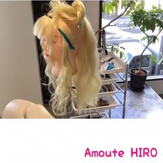 まとめ髪 セミロング ショート ヘアアレンジ ヘアスタイルや髪型の写真・画像