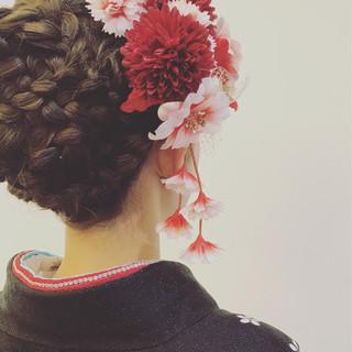 ヘアアレンジ ヘアメイク ロング ガーリー ヘアスタイルや髪型の写真・画像