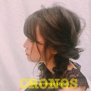 フェミニン セミロング 結婚式 オフィス ヘアスタイルや髪型の写真・画像 ヘアスタイルや髪型の写真・画像