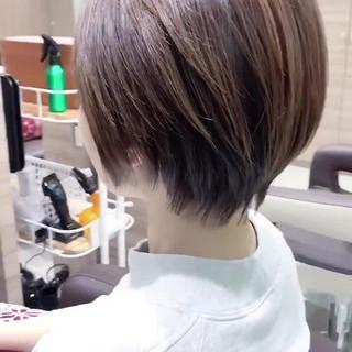 ナチュラル ひし形 ショートヘア ベリーショート ヘアスタイルや髪型の写真・画像
