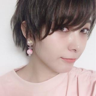暗髪 ショート イルミナカラー リラックス ヘアスタイルや髪型の写真・画像