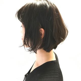 ウェットヘア アッシュ 黒髪 ナチュラル ヘアスタイルや髪型の写真・画像