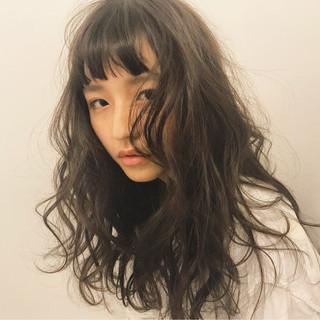 前髪あり ロング 外国人風 ナチュラル ヘアスタイルや髪型の写真・画像