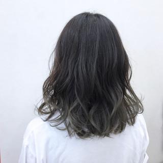 デート 大人かわいい グラデーションカラー ナチュラル ヘアスタイルや髪型の写真・画像