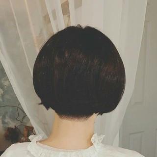 大人かわいい 冬 秋 ショート ヘアスタイルや髪型の写真・画像