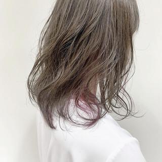 透明感 ミディアム ナチュラル アディクシーカラー ヘアスタイルや髪型の写真・画像