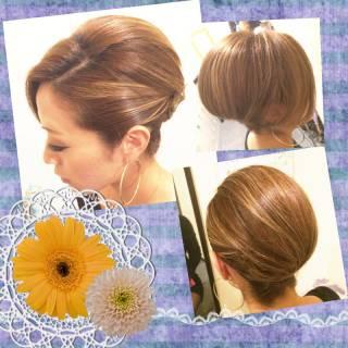 アップスタイル 夜会巻 ヘアアレンジ 結婚式 ヘアスタイルや髪型の写真・画像 ヘアスタイルや髪型の写真・画像