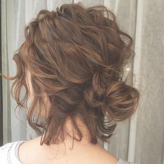 ハイライト 外国人風 ヘアアレンジ ショート ヘアスタイルや髪型の写真・画像