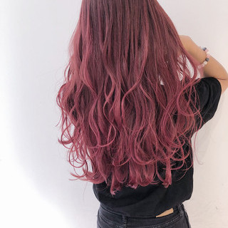 ピンクラベンダー ベリーピンク ラベンダーピンク ピンク ヘアスタイルや髪型の写真・画像