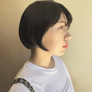 ヘアアレンジ ショートボブ ボブ デート ヘアスタイルや髪型の写真・画像
