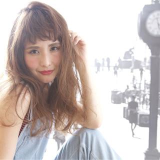 ストリート オン眉 大人かわいい ロング ヘアスタイルや髪型の写真・画像