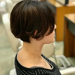 ミニボブ ショートボブ ショート モード ヘアスタイルや髪型の写真・画像