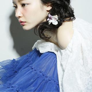大人かわいい ヘアアレンジ ショート 外国人風 ヘアスタイルや髪型の写真・画像