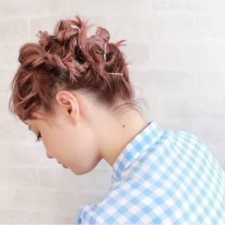 外国人風 ヘアアレンジ ストリート オン眉 ヘアスタイルや髪型の写真・画像