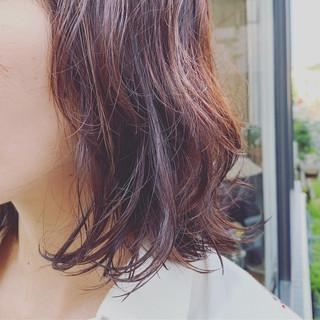 ストリート うる艶カラー パーマ ミディアム ヘアスタイルや髪型の写真・画像