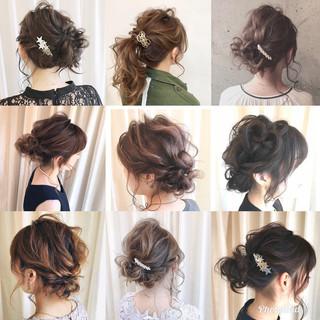 あざと毛 簡単ヘアアレンジ ナチュラル 結婚式 ヘアスタイルや髪型の写真・画像