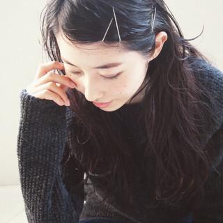 黒髪 ロング ウェットヘア ショート ヘアスタイルや髪型の写真・画像