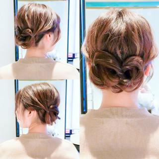 ヘアアレンジ セルフヘアアレンジ フェミニン セルフアレンジ ヘアスタイルや髪型の写真・画像