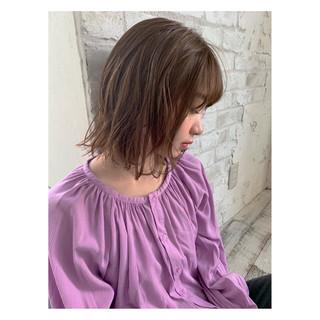 パーマ 透明感カラー レイヤーカット ショートボブ ヘアスタイルや髪型の写真・画像
