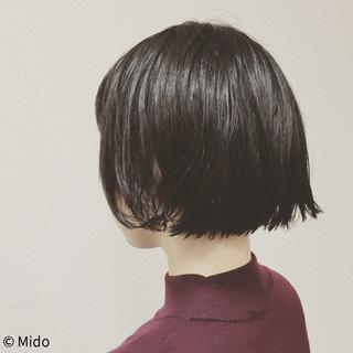 黒髪 こなれ感 ナチュラル 小顔 ヘアスタイルや髪型の写真・画像