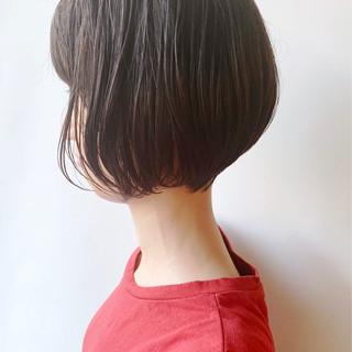 ショートボブ ナチュラル 大人かわいい 黒髪 ヘアスタイルや髪型の写真・画像