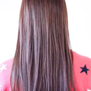 パープルカラー ロング ツヤ髪 ラベンダー ヘアスタイルや髪型の写真・画像