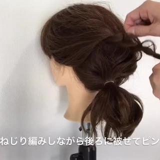 ルーズ デート ショート 簡単 ヘアスタイルや髪型の写真・画像