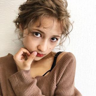 アンニュイほつれヘア セミロング 大人かわいい ヘアアレンジ ヘアスタイルや髪型の写真・画像