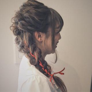 ゆるふわ 簡単ヘアアレンジ アッシュ ショート ヘアスタイルや髪型の写真・画像