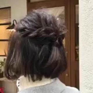 インナーカラー デート ヘアアレンジ ゆるふわ ヘアスタイルや髪型の写真・画像