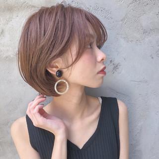 ショートボブ インナーカラー ミニボブ ショートヘア ヘアスタイルや髪型の写真・画像
