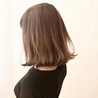 外ハネ 色気 暗髪 ロブ ヘアスタイルや髪型の写真・画像