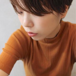 冬 パーマ ヘアアレンジ ショート ヘアスタイルや髪型の写真・画像