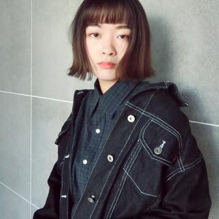抜け感 暗髪 ストリート モード ヘアスタイルや髪型の写真・画像