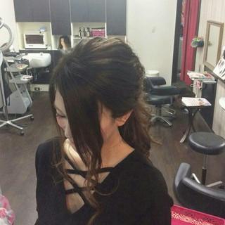 ポニーテール ナチュラル ロング ヘアアレンジ ヘアスタイルや髪型の写真・画像
