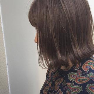 ハイライト ロブ ボブ 外ハネ ヘアスタイルや髪型の写真・画像