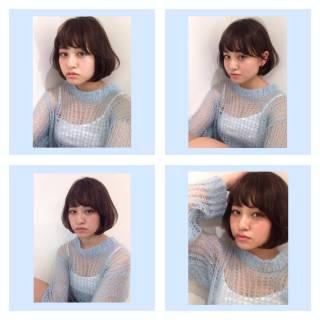 丸顔 ナチュラル 愛され ゆるふわ ヘアスタイルや髪型の写真・画像