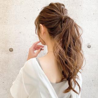 簡単ヘアアレンジ ヘアアレンジ ふわふわヘアアレンジ ロング ヘアスタイルや髪型の写真・画像