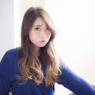 かっこいい 大人女子 ロング 外国人風 ヘアスタイルや髪型の写真・画像