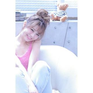ショート 大人かわいい ロング 簡単ヘアアレンジ ヘアスタイルや髪型の写真・画像