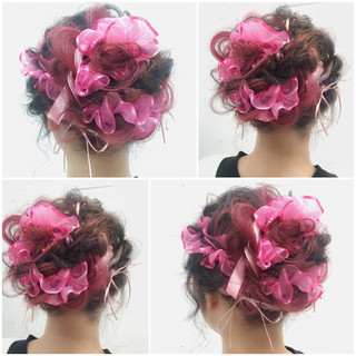 ハーフアップ フェミニン 大人かわいい ヘアアレンジ ヘアスタイルや髪型の写真・画像