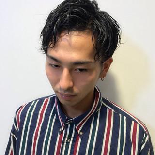 ナチュラル スパイラルパーマ メンズカット メンズカジュアル ヘアスタイルや髪型の写真・画像