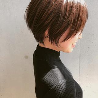 ショートボブ ショート ボブヘアー ハンサムショート ヘアスタイルや髪型の写真・画像
