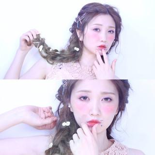 簡単ヘアアレンジ ショート 外国人風 ロング ヘアスタイルや髪型の写真・画像